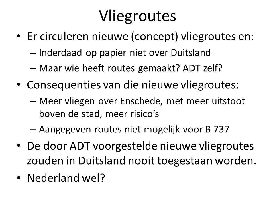 Vliegroutes Er circuleren nieuwe (concept) vliegroutes en: – Inderdaad op papier niet over Duitsland – Maar wie heeft routes gemaakt.