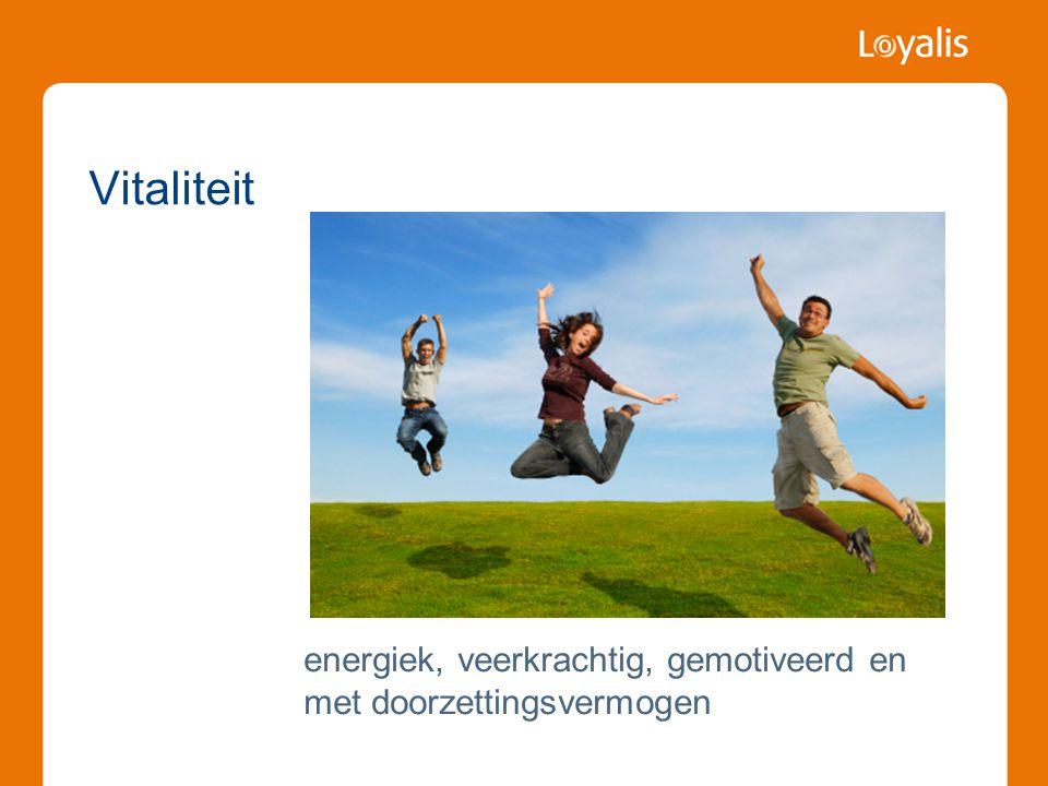 Vitaliteit energiek, veerkrachtig, gemotiveerd en met doorzettingsvermogen