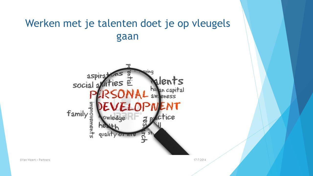 Werken met je talenten doet je op vleugels gaan 17-7-2014©Van Weert + Partners