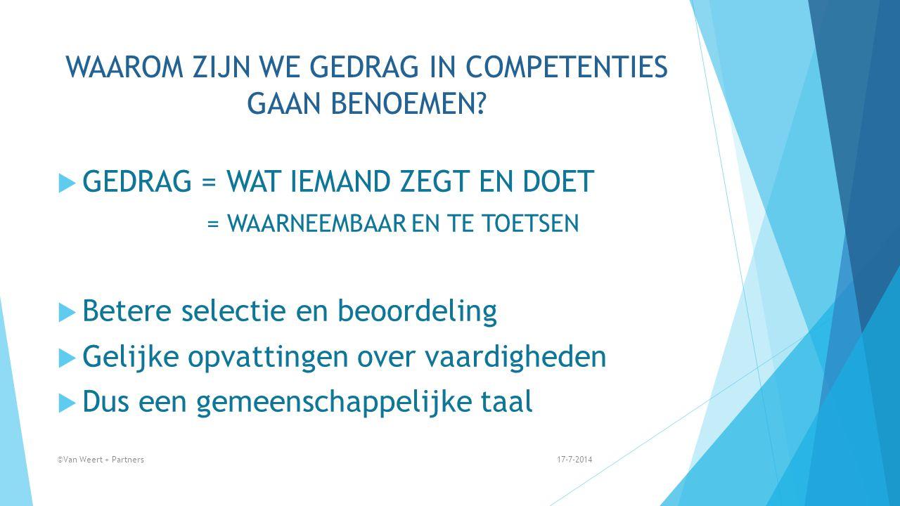 Voorbeeld teamanalyse 17-7-2014©Van Weert + Partners