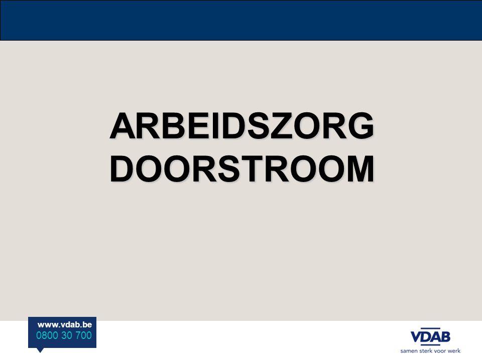 www.vdab.be 0800 30 700 ARBEIDSZORG DOORSTROOM