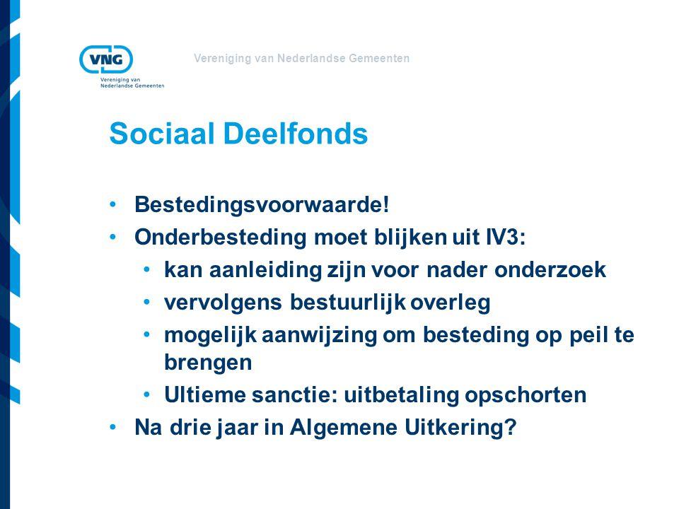 Vereniging van Nederlandse Gemeenten Sociaal Deelfonds Bestedingsvoorwaarde.