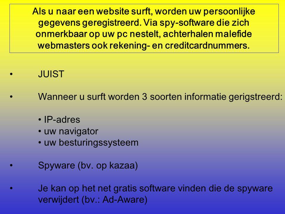 Als u naar een website surft, worden uw persoonlijke gegevens geregistreerd.