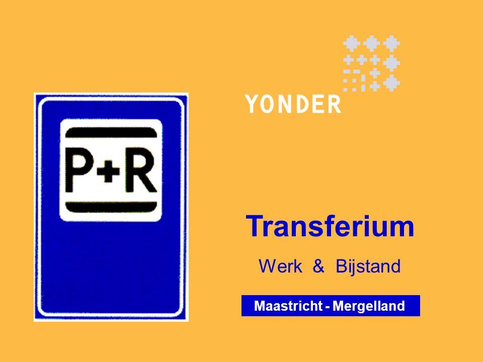 Programma  Yonder in een notendop  Transferium in een zin  Regionaal arbeidsmarktbeleid, de hoofdlijn  Transferium van bestek tot tekentafel en realisatie  En dan 15 maanden praktijk…