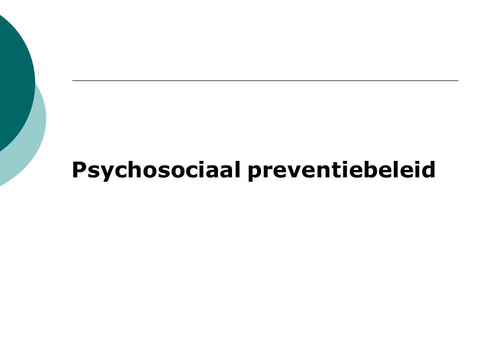 Psychosociaal preventiebeleid