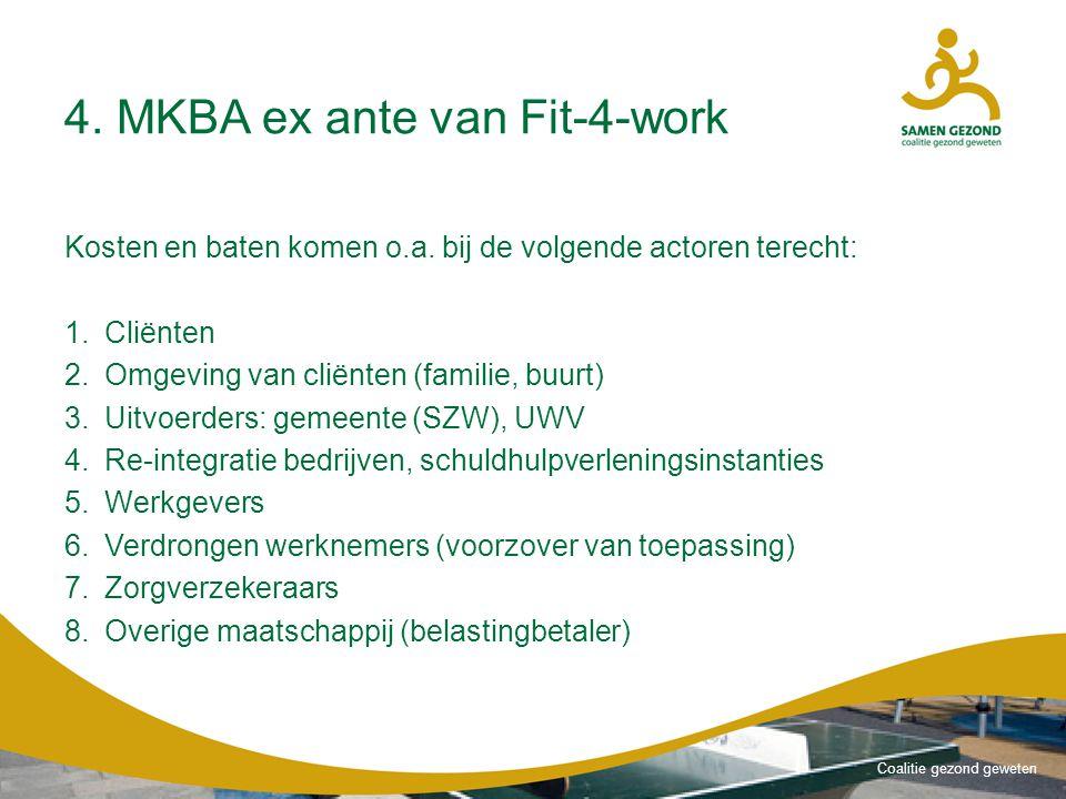 Coalitie gezond geweten 4.MKBA ex ante van Fit-4-work Kosten en baten komen o.a.