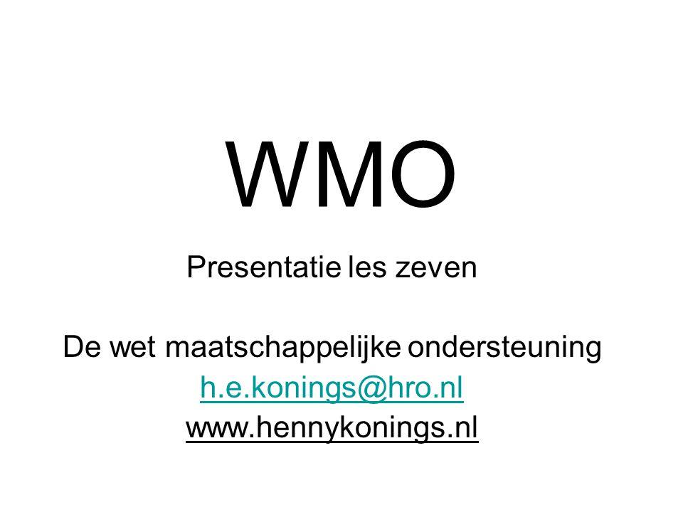 Enkele site's http://wmo.startpagina.nl www.rotterdam/nl/wmo www.bureaujeugdzorg.info.nl www..josvdlans.nl www.scienceguide.nl www.steyaert.org.nl www.ijsselwijs.nl