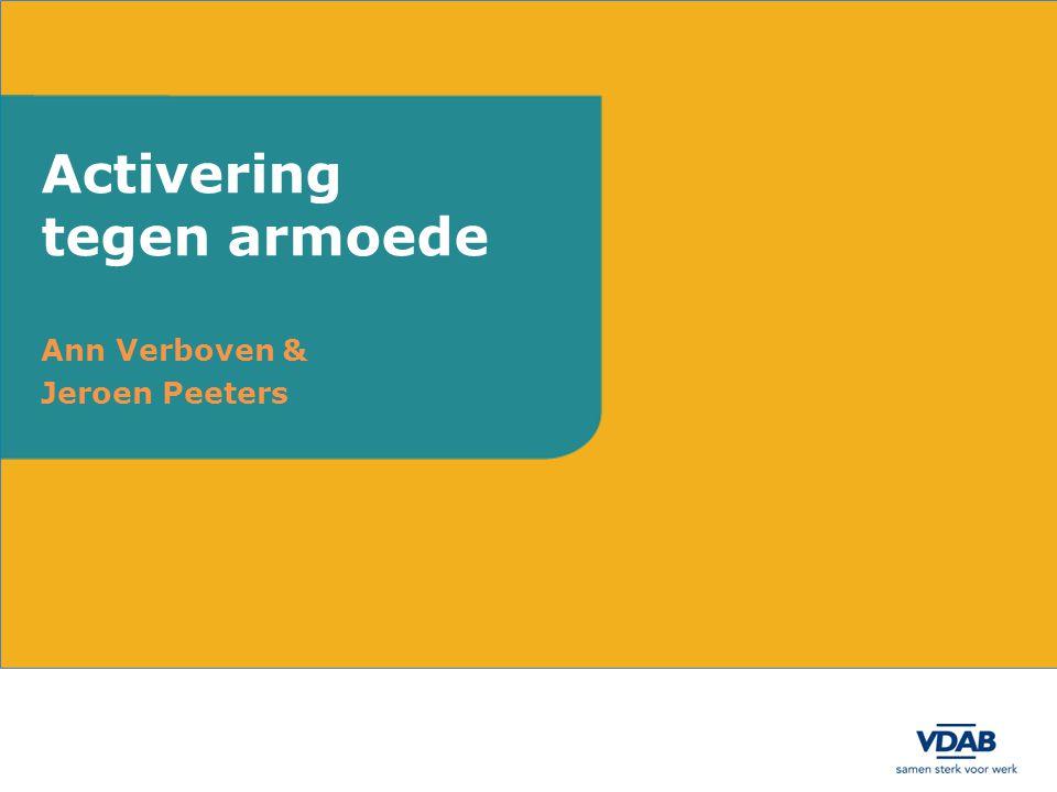 Ann Verboven & Jeroen Peeters Activering tegen armoede