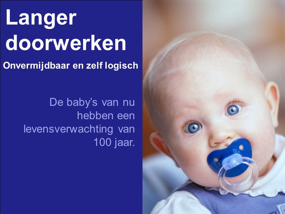 Langer doorwerken De baby's van nu hebben een levensverwachting van 100 jaar. Onvermijdbaar en zelf logisch