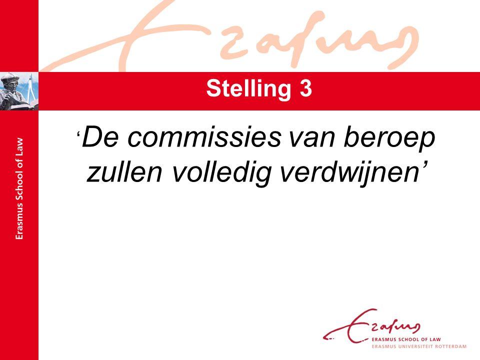 Stelling 3 ' De commissies van beroep zullen volledig verdwijnen'