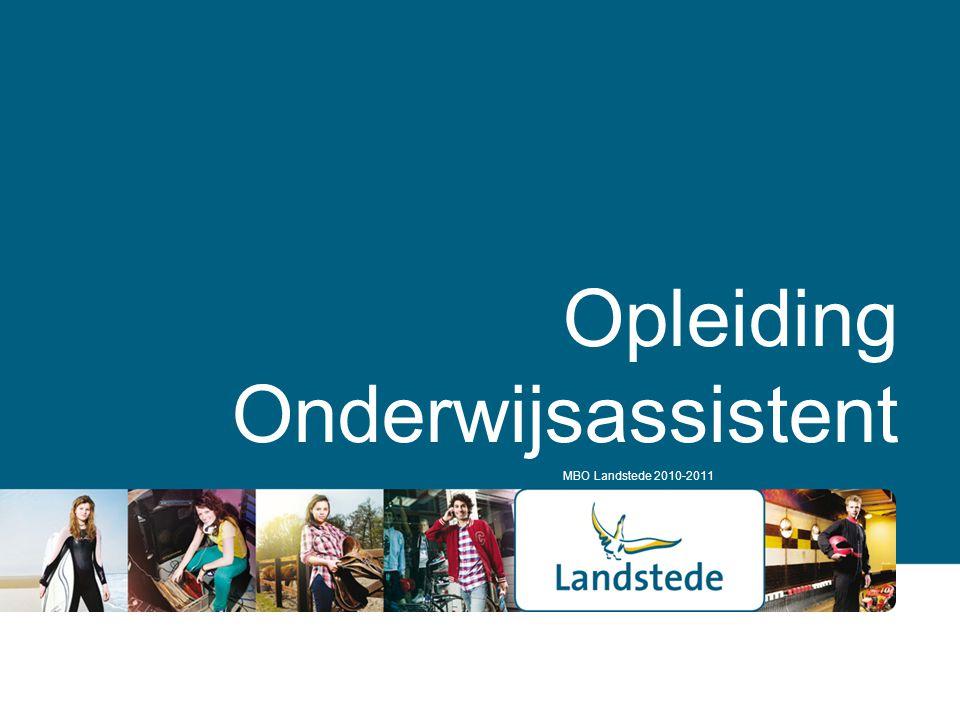 Opleiding Onderwijsassistent MBO Landstede 2010-2011