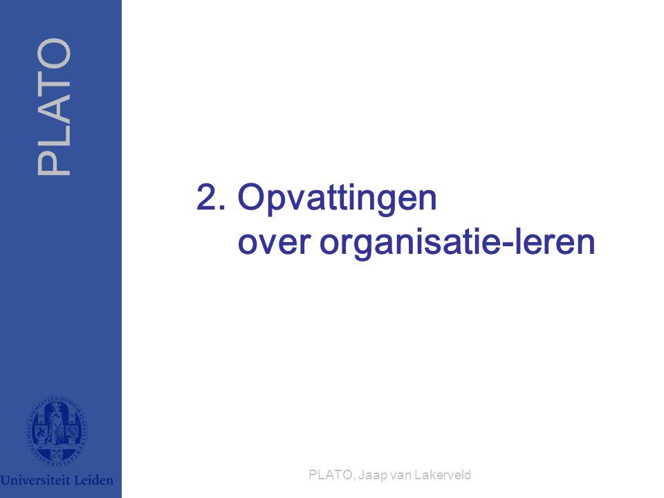 PLATO PLATO, Jaap van Lakerveld 2. Opvattingen over organisatie-leren