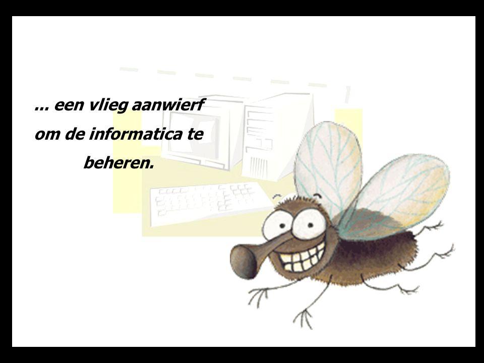 Het is toen dat de kakkerlak een computer en een laserprinter aankocht en...