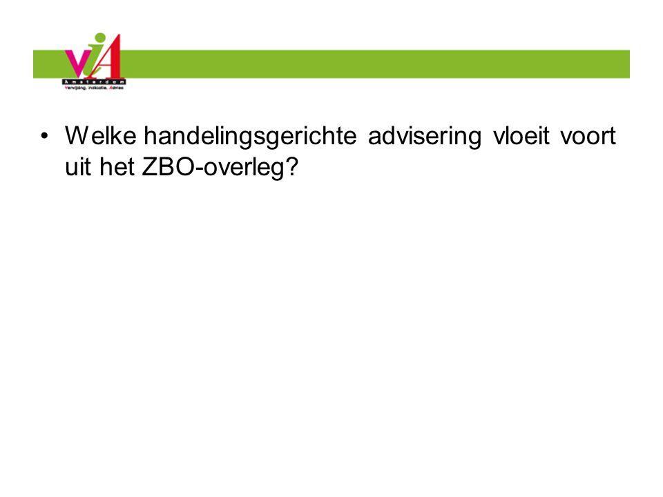Welke handelingsgerichte advisering vloeit voort uit het ZBO-overleg?