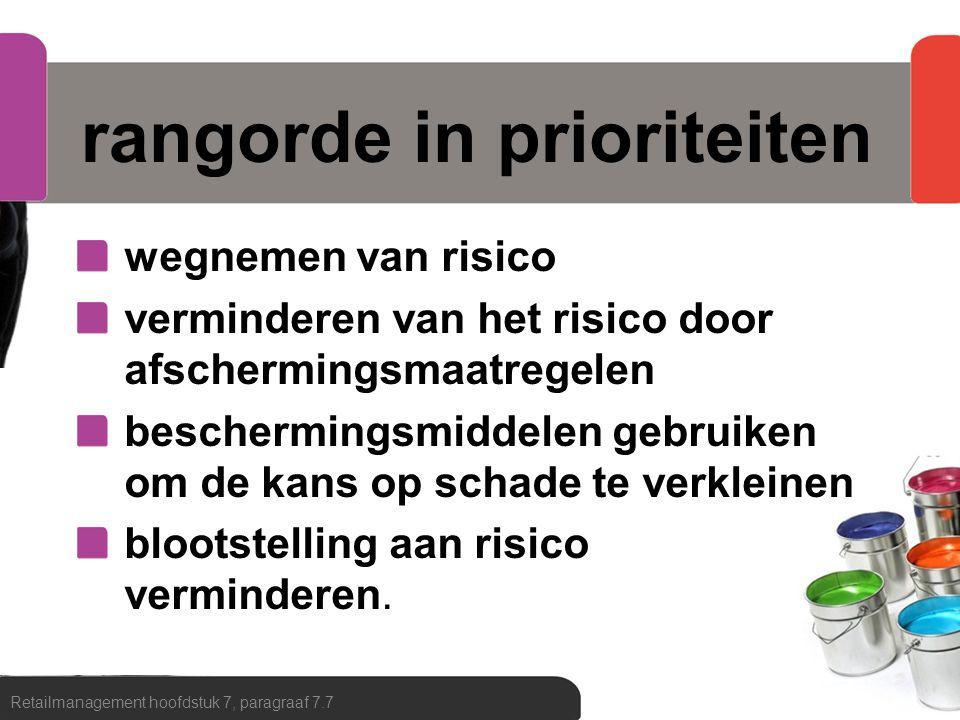 calamiteitenpreventie bedrijfsnoodplan bedrijfshulpverlener vluchtweg en nooduitgang blusmiddelen en EHBO-materialen Retailmanagement hoofdstuk 7, paragraaf 7.7
