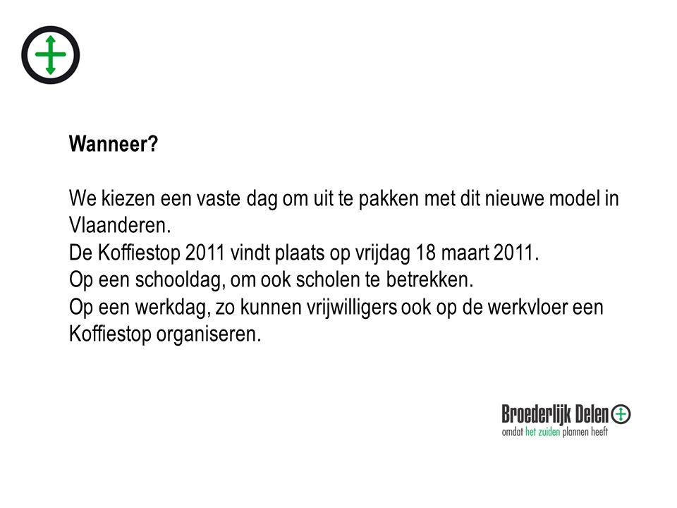 Wanneer. We kiezen een vaste dag om uit te pakken met dit nieuwe model in Vlaanderen.
