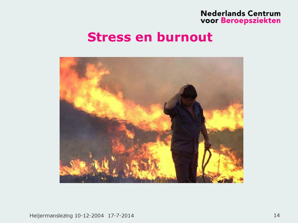 Heijermanslezing 10-12-2004 17-7-201414 Stress en burnout