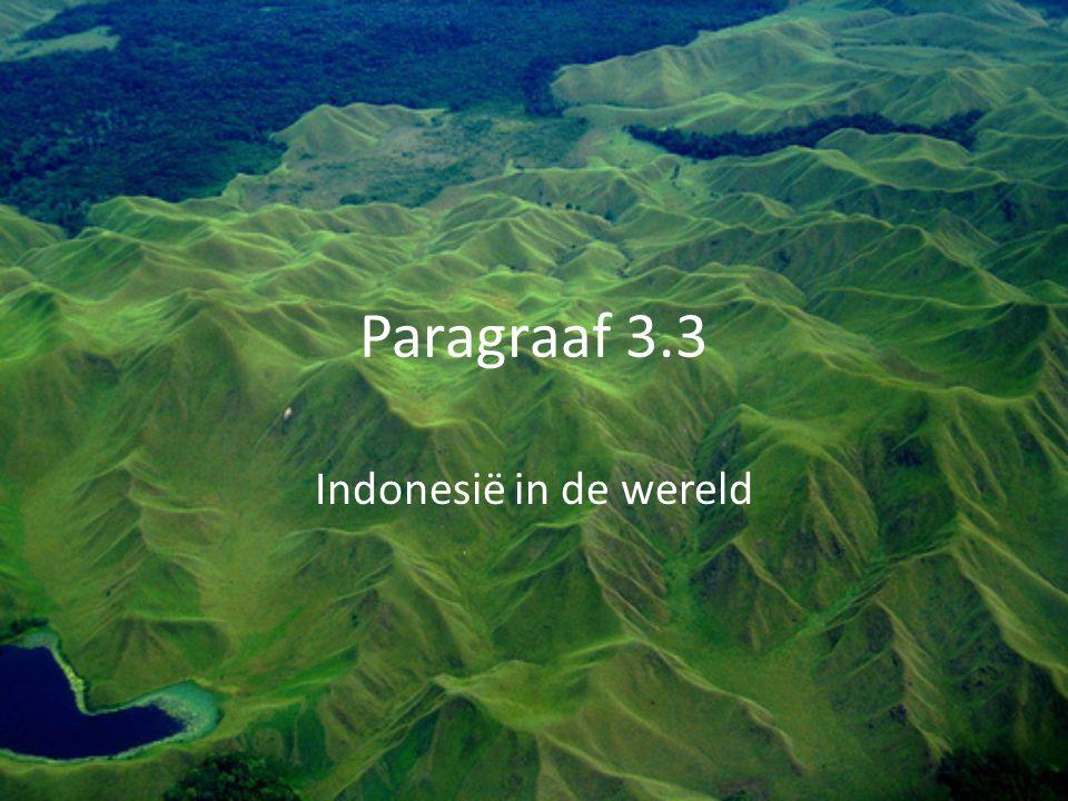 Paragraaf 3.3 Indonesië in de wereld