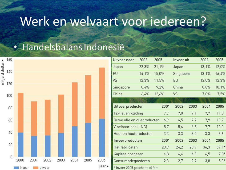 Werk en welvaart voor iedereen? Handelsbalans Indonesië