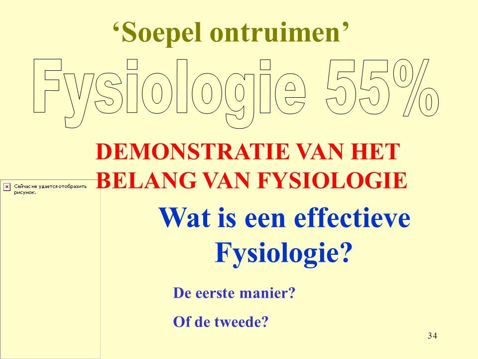 34 'Soepel ontruimen' Wat is een effectieve Fysiologie.