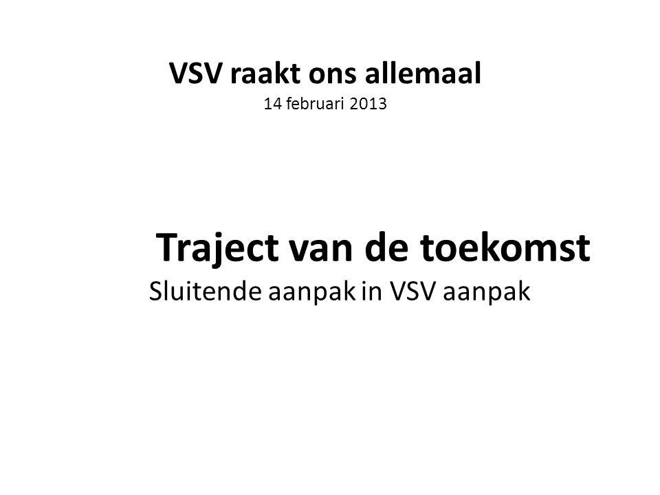 Aanleiding Traject vd Toekomst Eerdere ervaring met samenwerking in VSV.