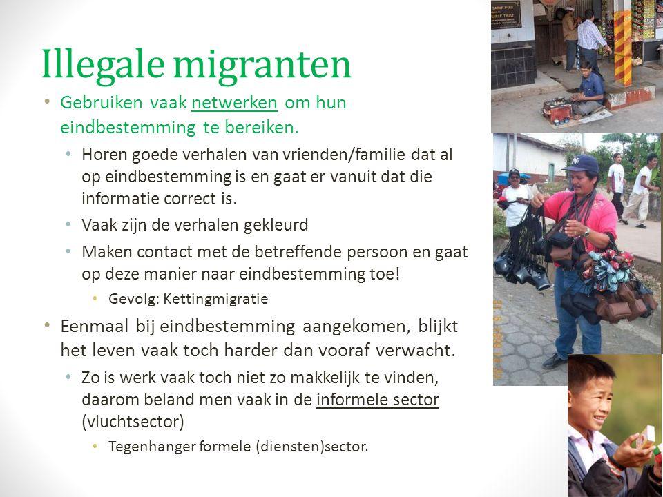 Illegale migranten Gebruiken vaak netwerken om hun eindbestemming te bereiken. Horen goede verhalen van vrienden/familie dat al op eindbestemming is e