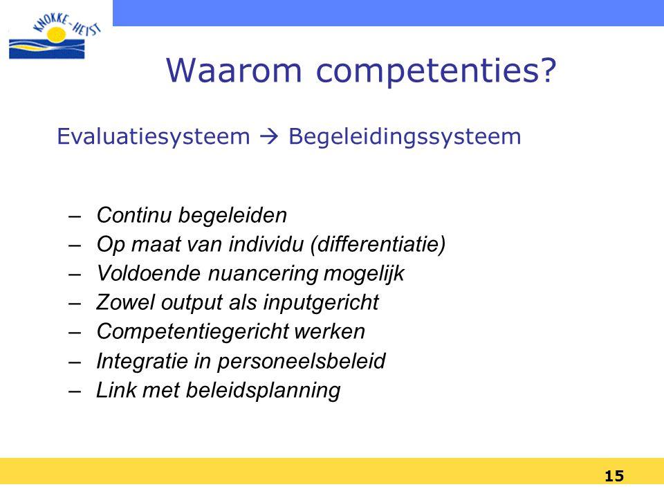 15 Waarom competenties.