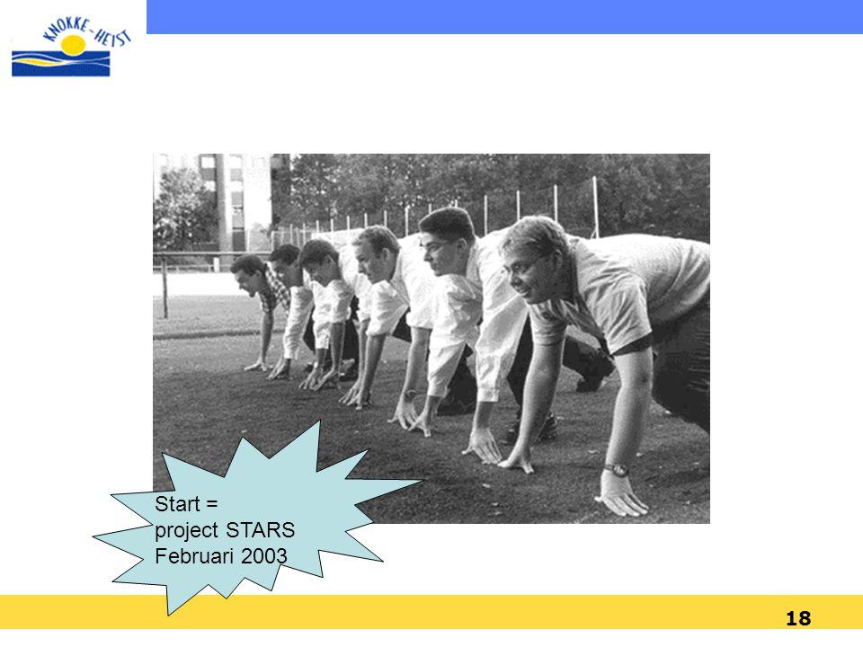 18 Start = project STARS Februari 2003