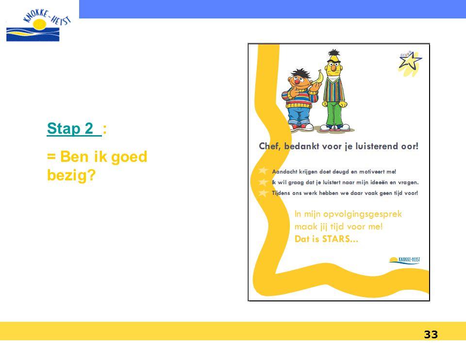 32 1. Plannen en sturen (vervolg) Twee soorten doelstellingen: –Prestatiedoelstellingen (mbt resultaten, de output) –Ontwikkelingsdoelstellingen (mbt