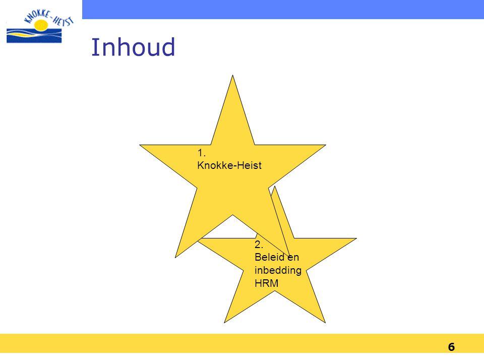 6 1. Knokke-Heist 2. Beleid en inbedding HRM Inhoud