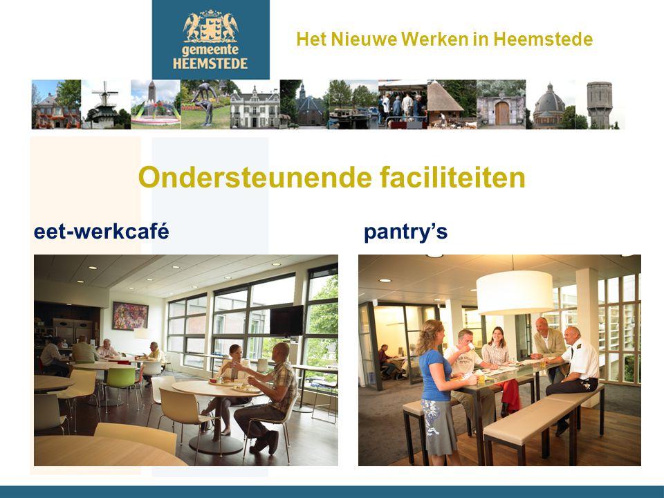 Ondersteunende faciliteiten eet-werkcafé pantry's Het Nieuwe Werken in Heemstede