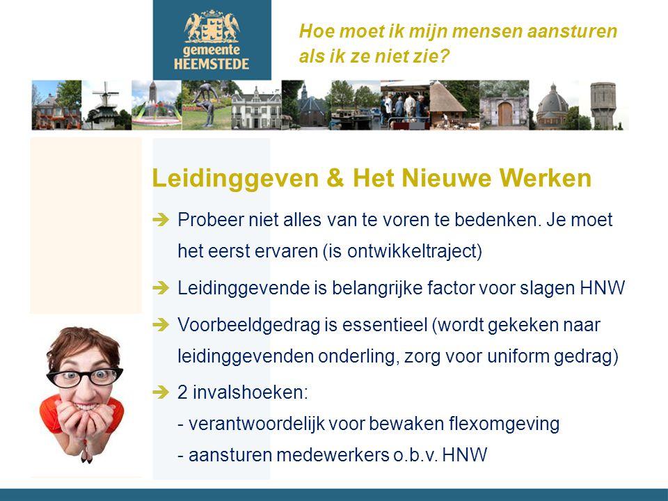 Leidinggeven & Het Nieuwe Werken èProbeer niet alles van te voren te bedenken.