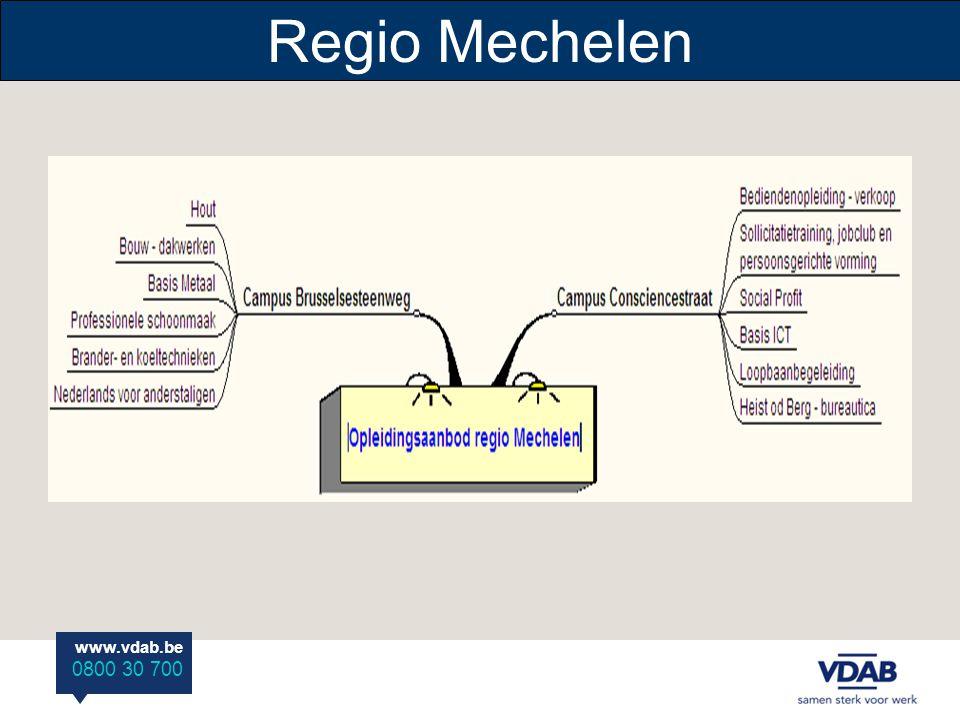 www.vdab.be 0800 30 700 Regio Mechelen