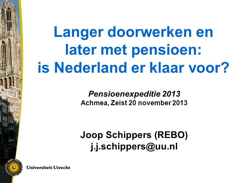 Langer doorwerken en later met pensioen: is Nederland er klaar voor.