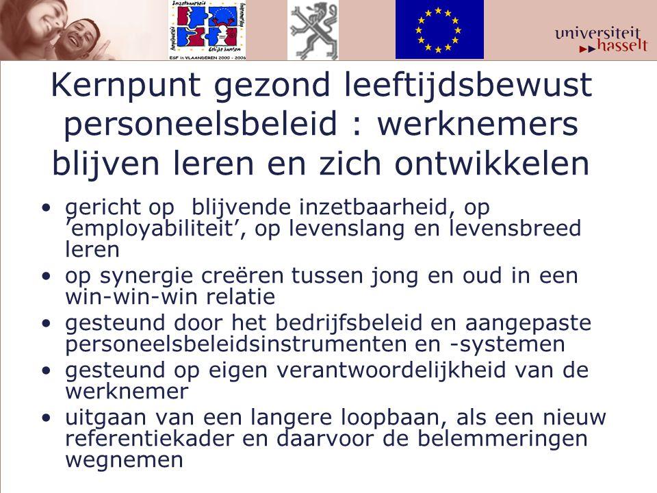 Kernpunt gezond leeftijdsbewust personeelsbeleid : werknemers blijven leren en zich ontwikkelen gericht op blijvende inzetbaarheid, op 'employabilitei