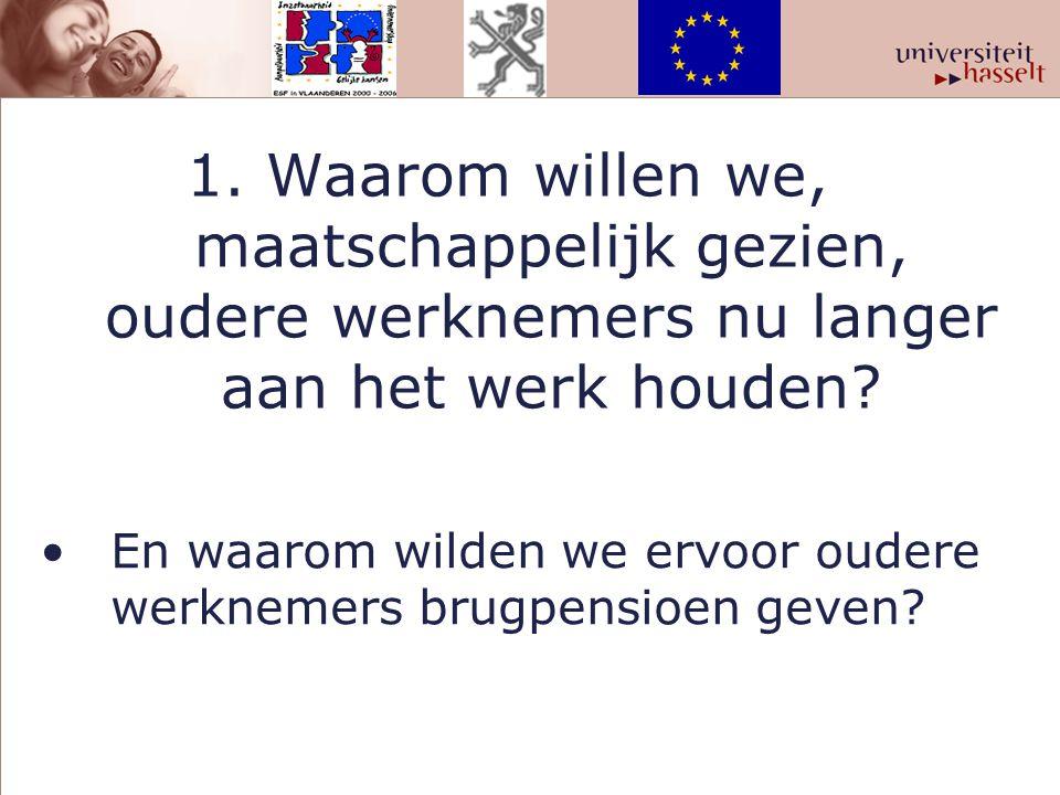 www.ouderenenarbeid.uhasselt.be www.werkgoesting.uhasselt.be Bovenstaande website bevat een schat aan informatie voor iedereen met interesse voor oudere werknemers.