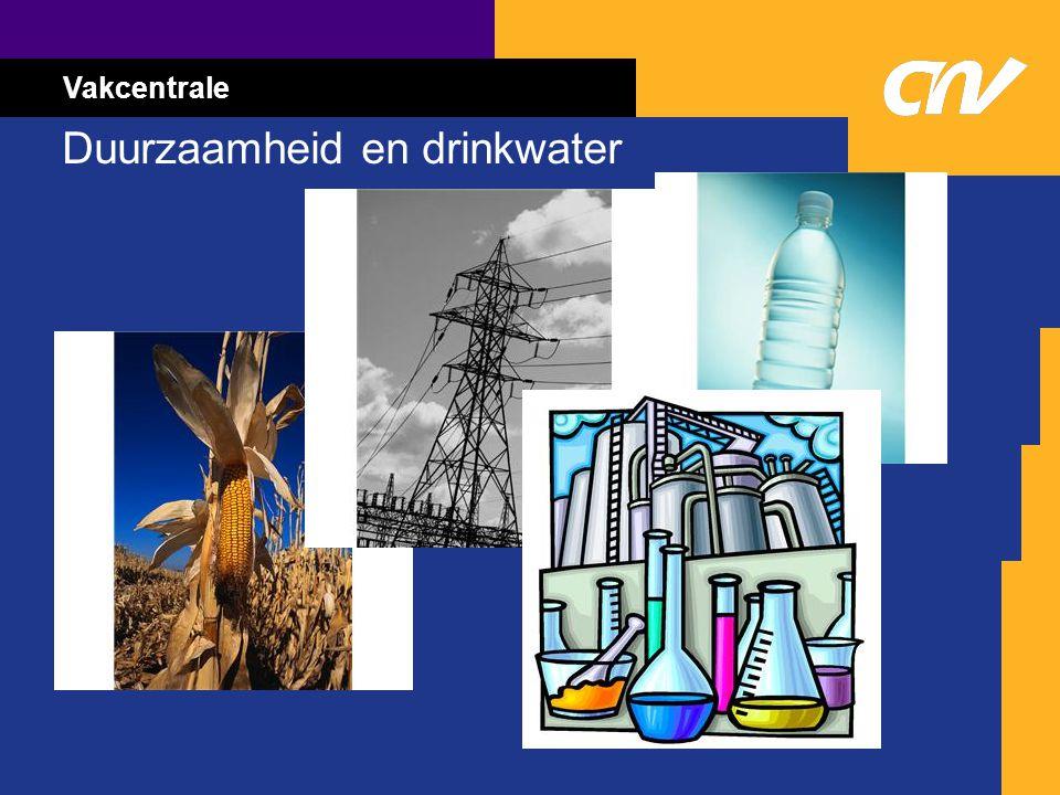 Vakcentrale Duurzaamheid en drinkwater