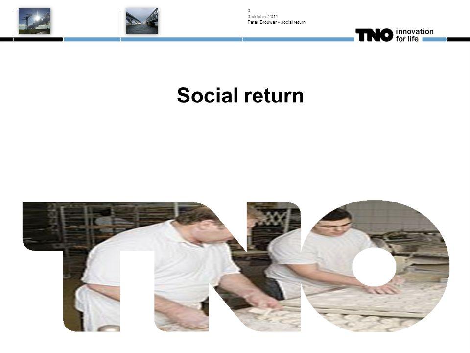 3 oktober 2011 Peter Brouwer - social return 0 Social return