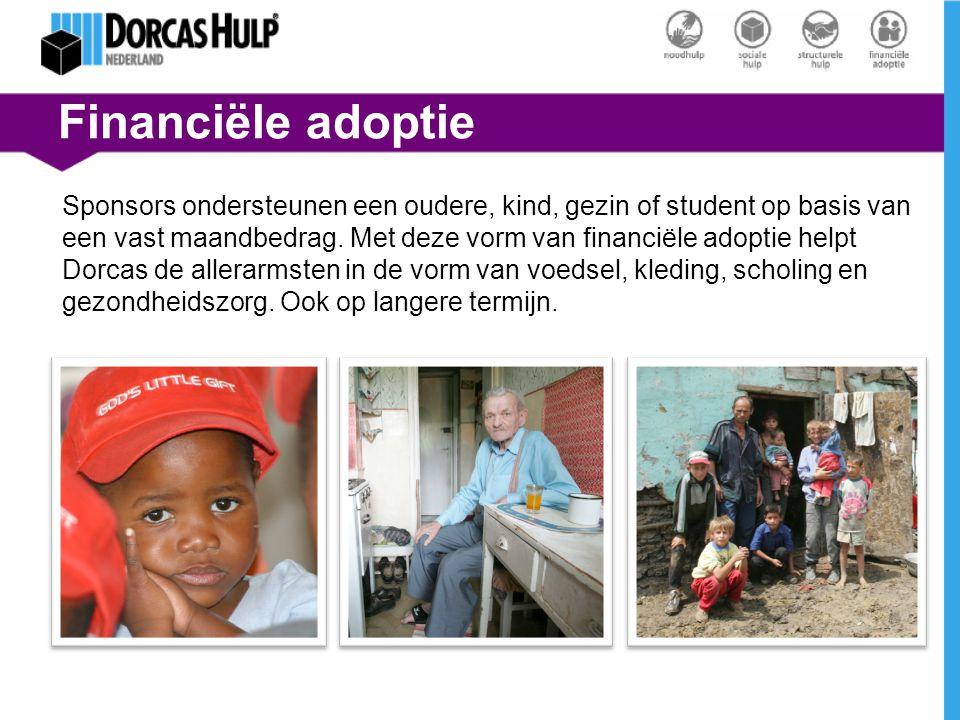 Financiële adoptie Sponsors ondersteunen een oudere, kind, gezin of student op basis van een vast maandbedrag. Met deze vorm van financiële adoptie he