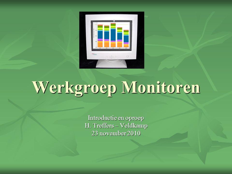Werkgroep Monitoren Introductie en oproep H. Treffers – Veldkamp 23 november 2010