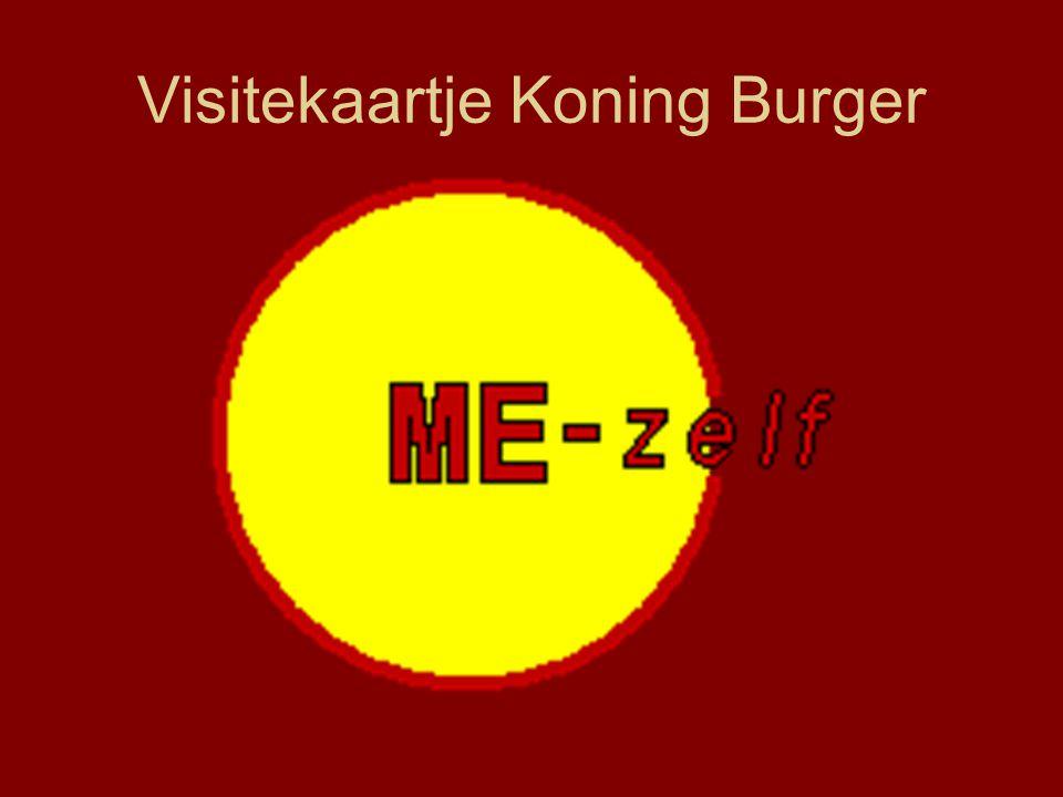 Visitekaartje Koning Burger