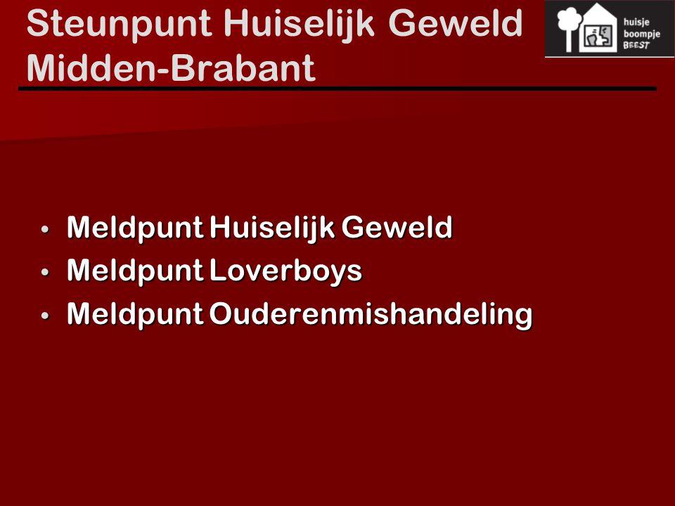 Steunpunt Huiselijk Geweld Midden-Brabant Meldpunt Huiselijk Geweld Meldpunt Huiselijk Geweld Meldpunt Loverboys Meldpunt Loverboys Meldpunt Ouderenmi
