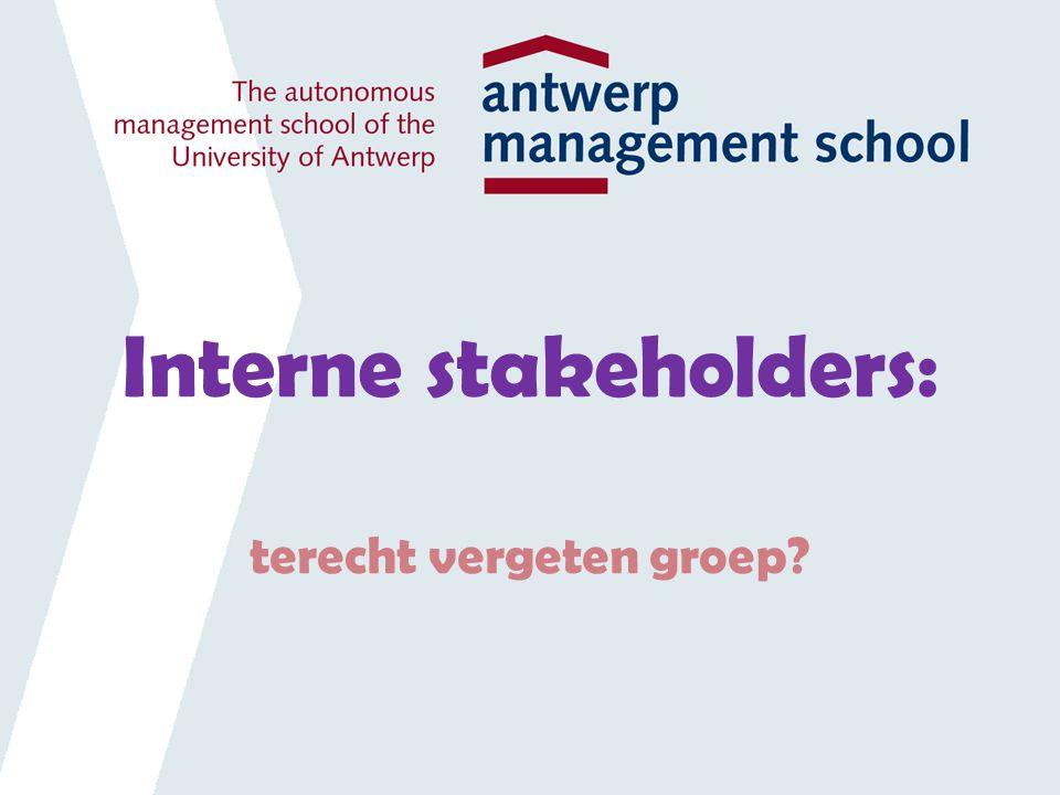 Interne stakeholders: terecht vergeten groep?