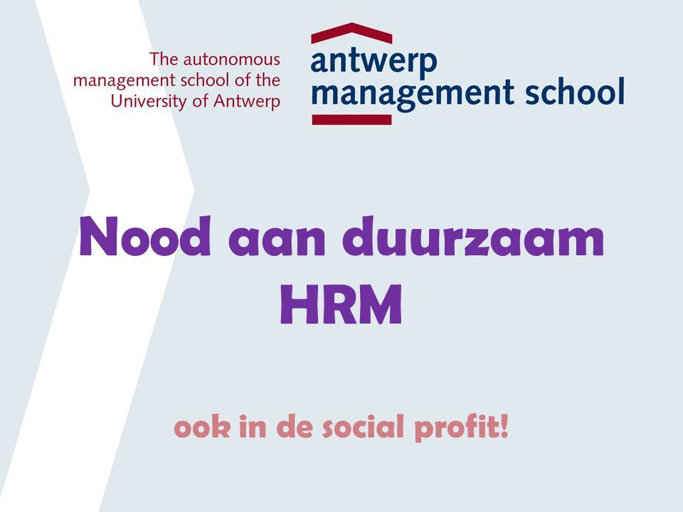 Nood aan duurzaam HRM ook in de social profit!