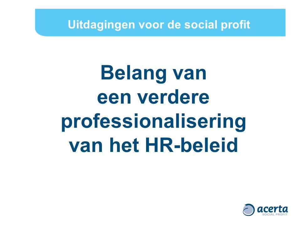 Ter opwarming… Om vandaag in de social profit goede medewerkers te kunnen aantrekken moet je vooral… (Hoe) Kan de social profit sector zich laten inspireren door sommige HR-principes of HR-praktijken van de privésector.