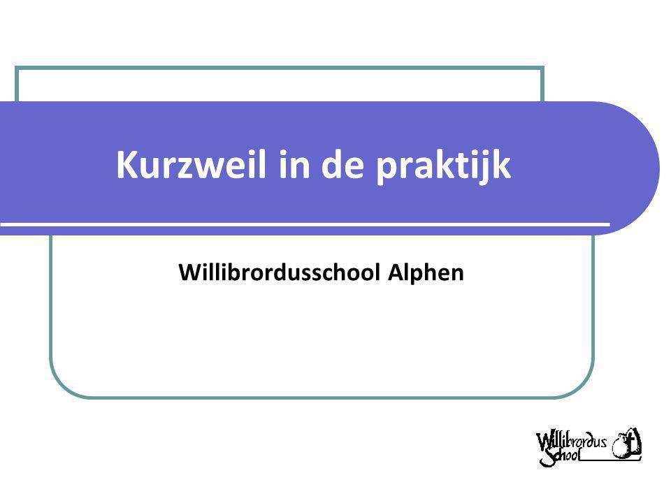 Kurzweil in de praktijk Willibrordusschool Alphen
