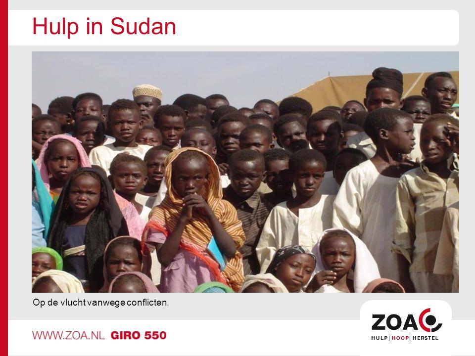 Hulp in Sudan Op de vlucht vanwege conflicten.