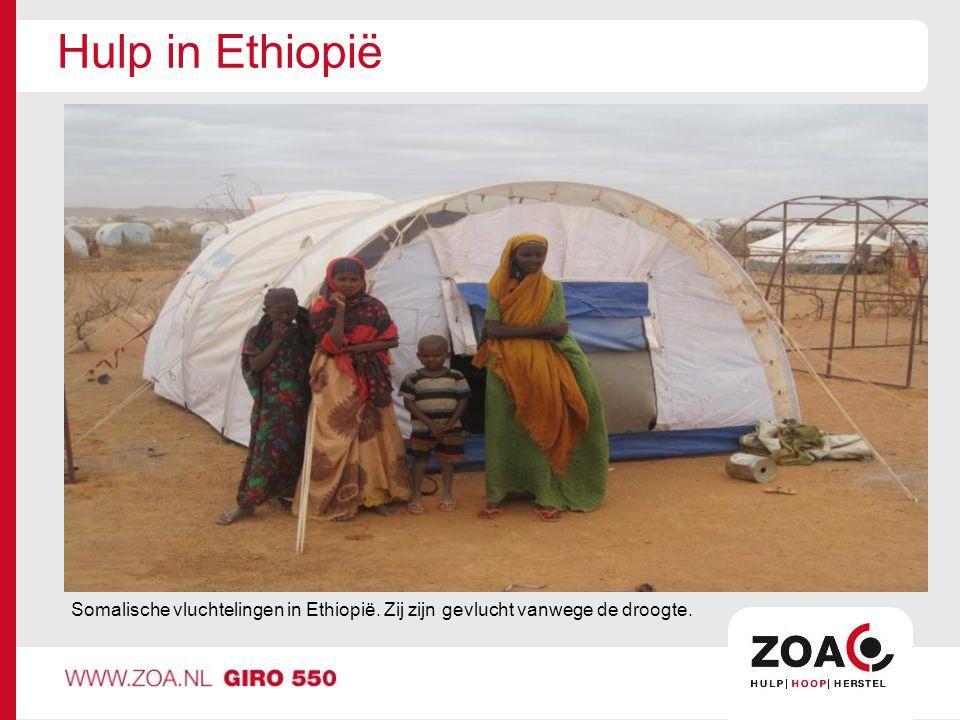 Hulp in Ethiopië Somalische vluchtelingen in Ethiopië. Zij zijn gevlucht vanwege de droogte.