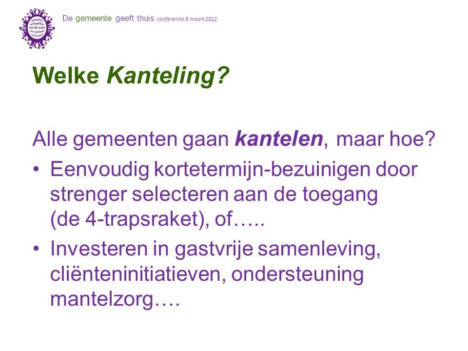 De gemeente geeft thuis conferentie 6 maart 2012 Welke Kanteling.