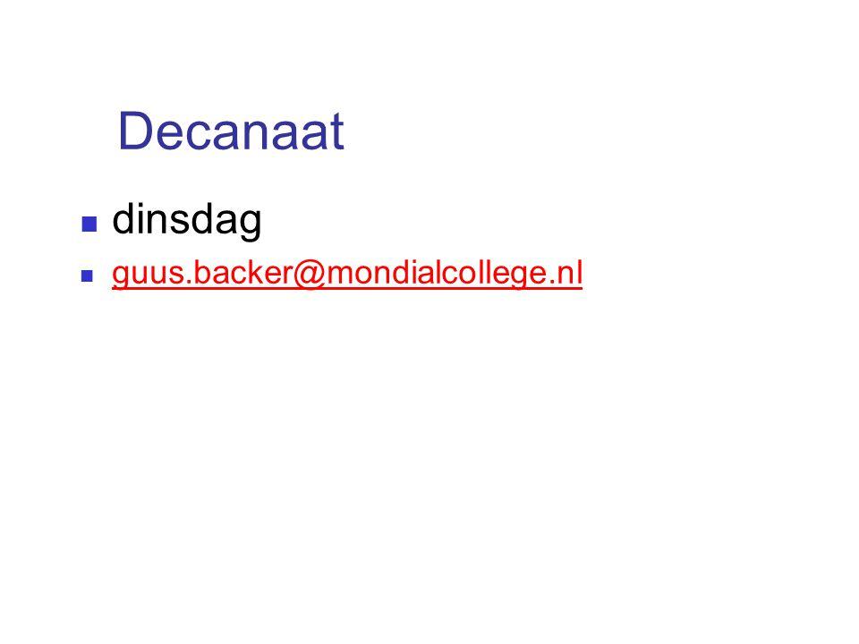 Decanaat dinsdag guus.backer@mondialcollege.nl